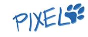 Pixel Pfotenabdruck