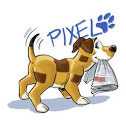 Unser Pixel holt jeden Morgen die Zeitung!