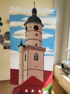 Das naturgetreue Abbild des Bartholomäuskirchturms